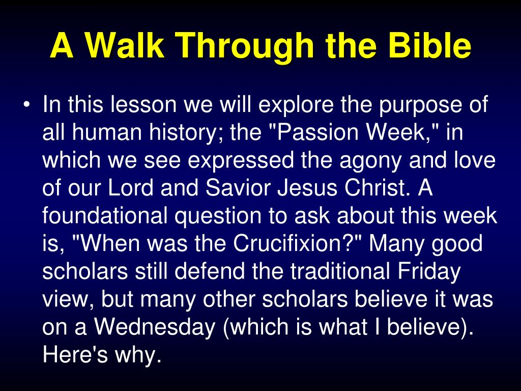 PPT - A Walk Through the Bible With Bro  Bill Parker