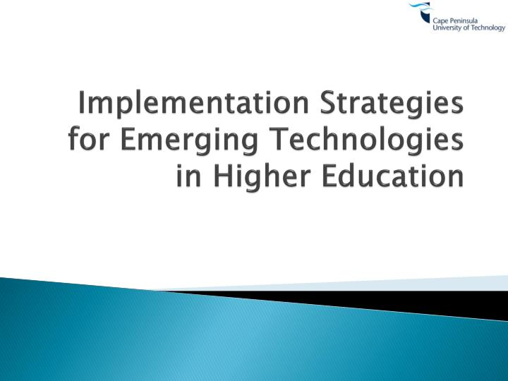 marketing strategy implementation in higher education Strategic engagement in higher education internationalization is critical for bahrain in leveraging strong global partnerships to assist in advancing the quality and diversity of education at a faster pace.