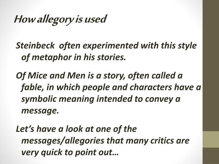 metaphors in of mice and men
