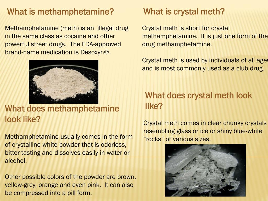 PPT - What does crystal meth look like? PowerPoint Presentation - ID