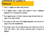difference of quality in pleasure