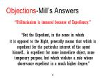 objections mill s answers2