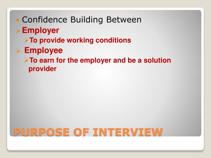 Confidence Building Between