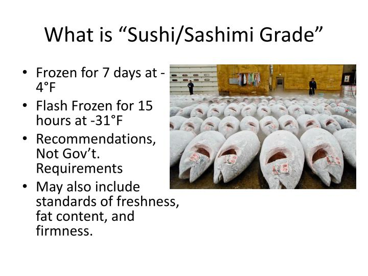 Ppt what is sushi powerpoint presentation id 1965331 for What is sushi grade fish