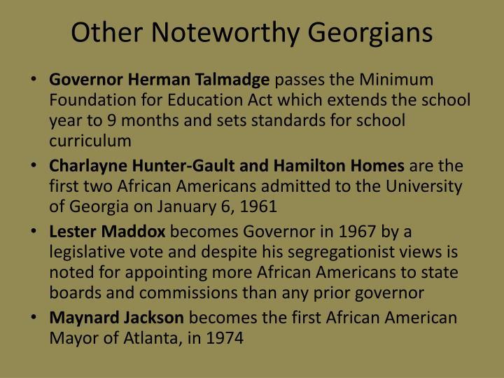 Other Noteworthy Georgians