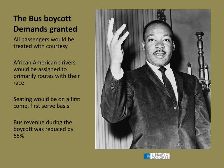 The Bus boycott Demands granted