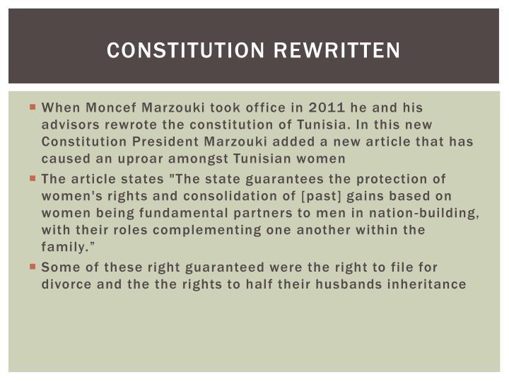 Constitution rewritten