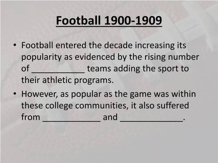 Football 1900 19091