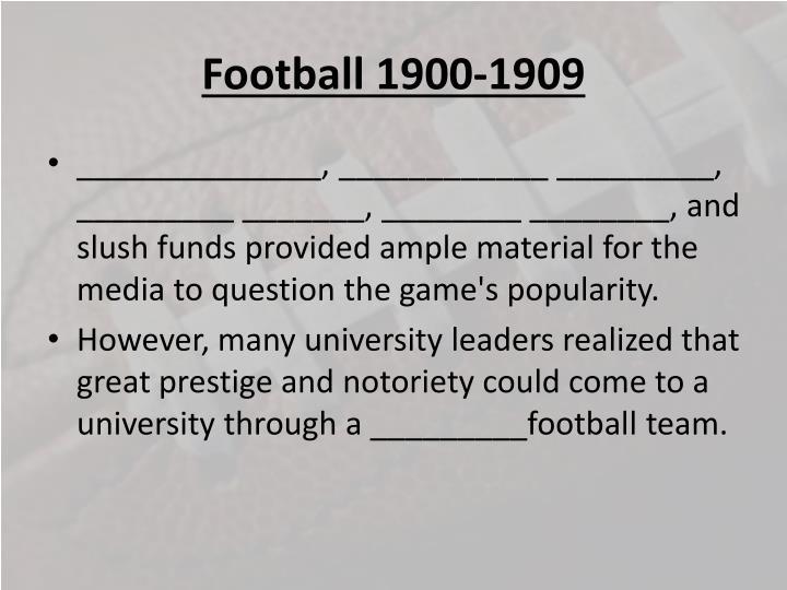 Football 1900 19092