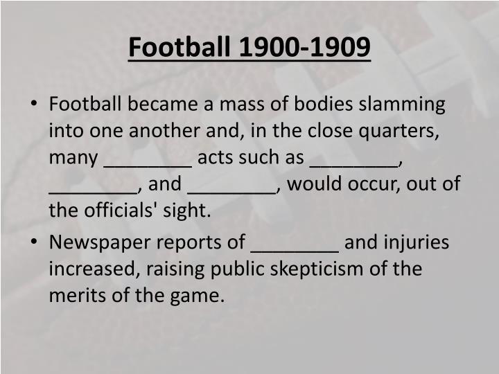 Football 1900-1909