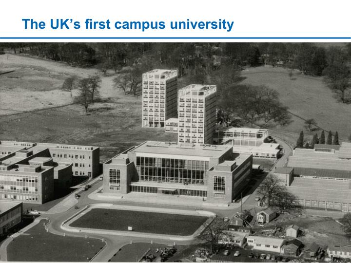 The UK's first campus university