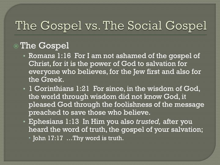 The gospel vs the social gospel