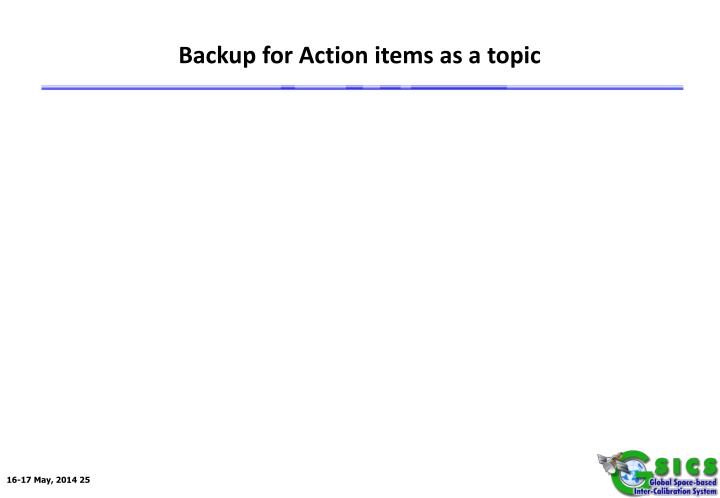 Backup for Action items as a topic