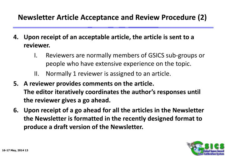 Newsletter Article Acceptance and Review Procedure (2)