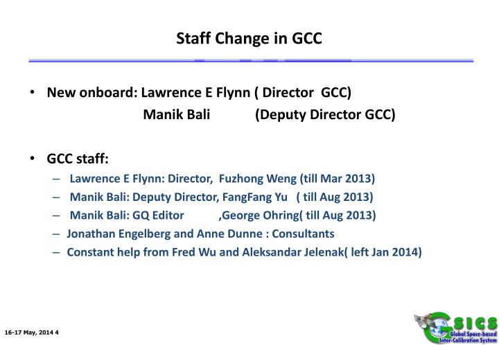 Staff Change in GCC