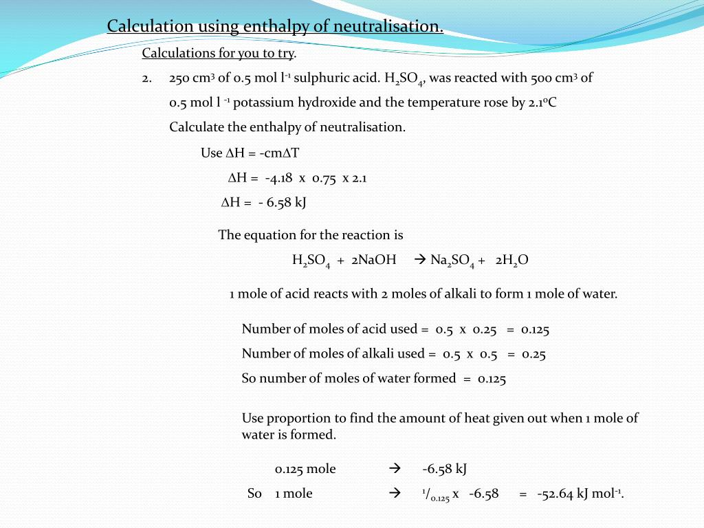 PPT - Enthalpy Calculations PowerPoint Presentation - ID:1965634