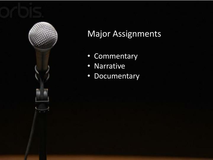 Major Assignments