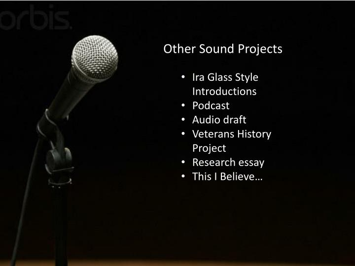 Other Sound Projects