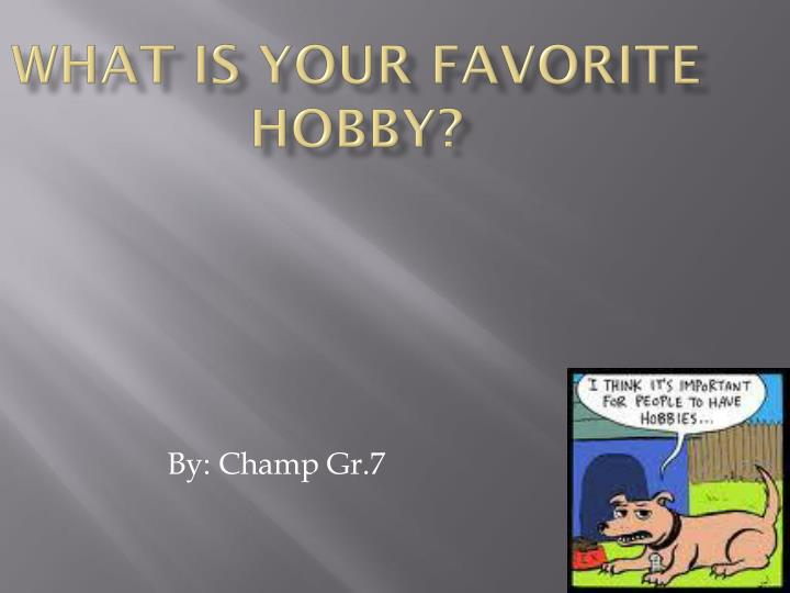what is your favorite hobby n.