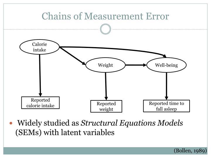 Chains of Measurement Error