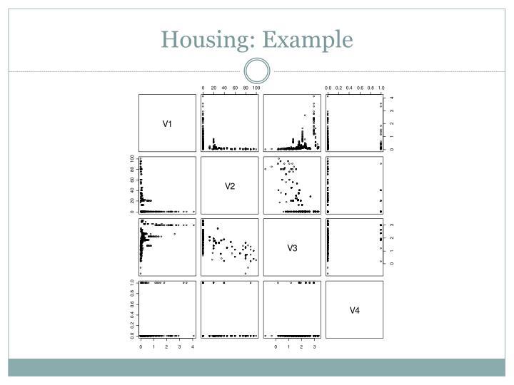 Housing: Example