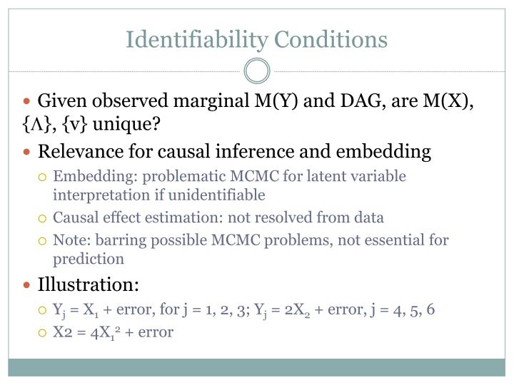 Identifiability Conditions