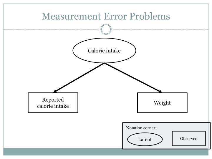 Measurement Error Problems