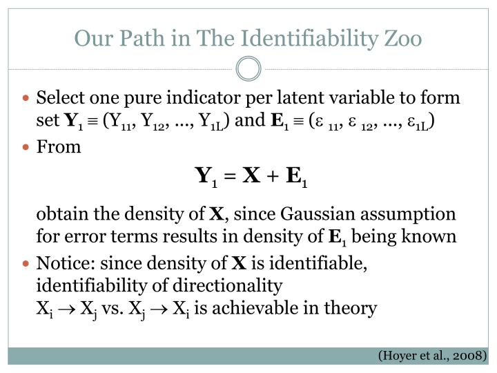 Our Path in The Identifiability Zoo