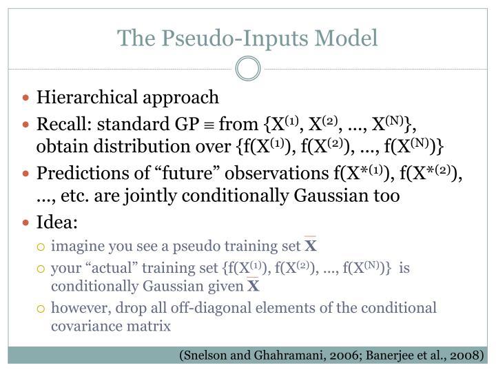 The Pseudo-Inputs Model