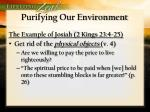 purifying our environment