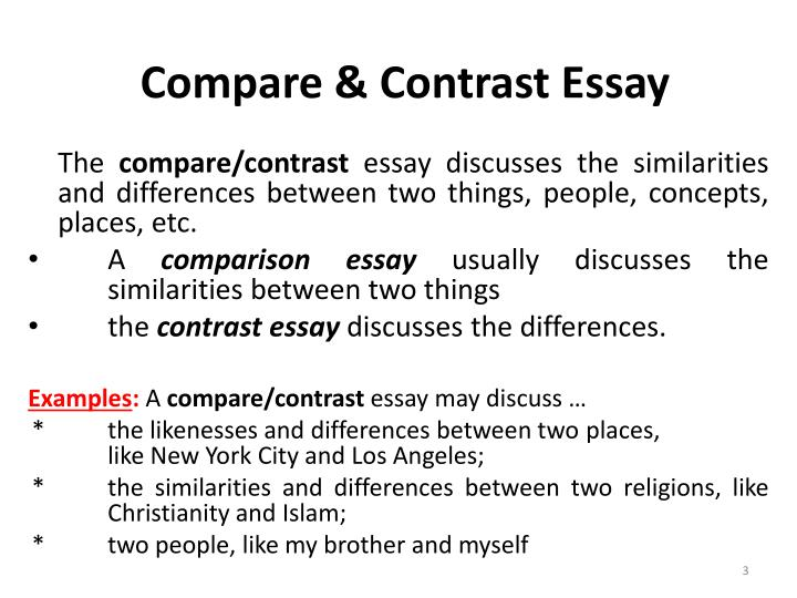 comparison between two things essay