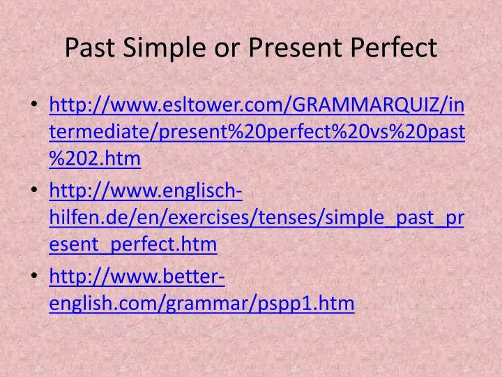 present perfect essay