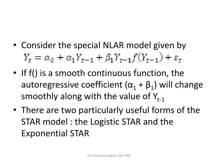 Consider the special NLAR model given by