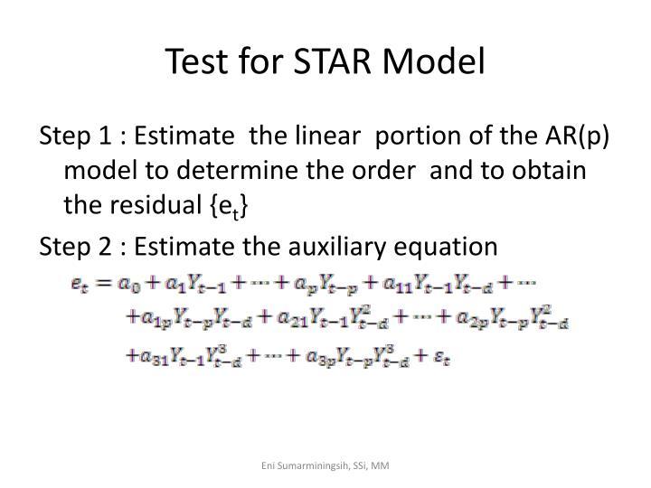 Test for STAR Model