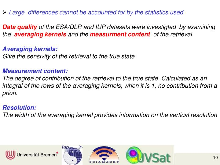 Large  differences cannot be accounted for by the statistics used
