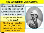 the search for livingstone1