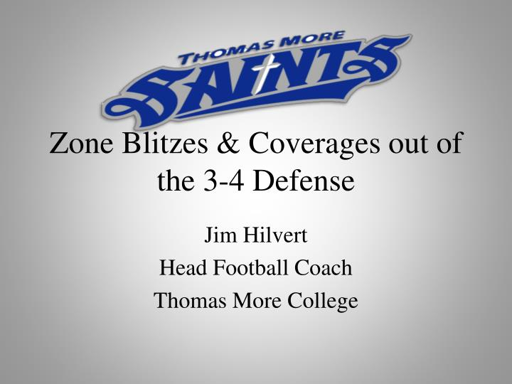 zone blitzes coverages out of the 3 4 defense n.