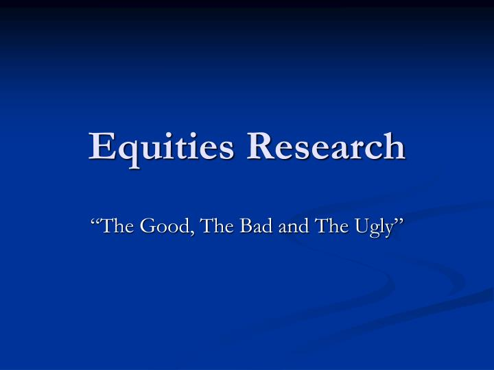 equities research n.