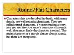 round flat characters