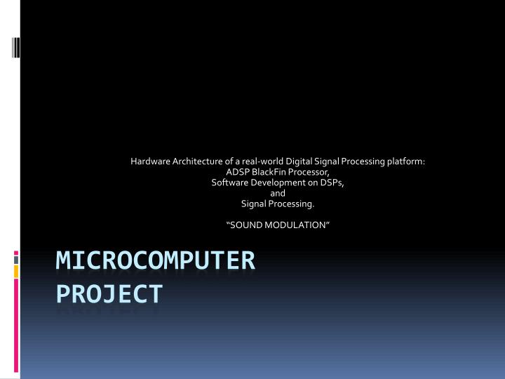 microcomputer project n.