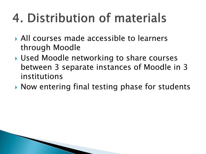 4. Distribution