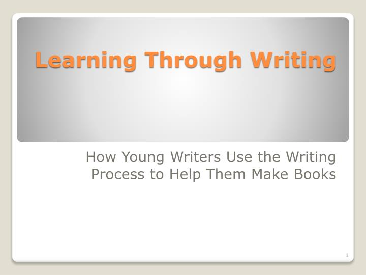 learning through writing n.