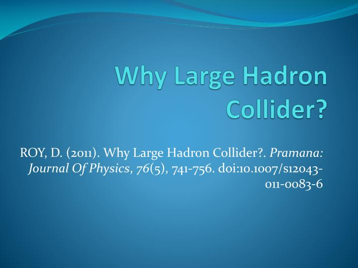 why large hadron collider