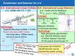 accelerator and detector for e e