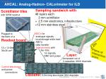 ahcal analog hadron calorimeter for ild