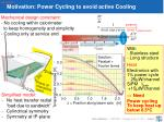 motivation power cycling to avoid active cooling