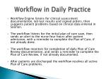 workflow in daily practice