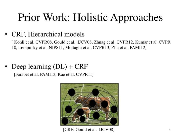Prior Work: Holistic Approaches