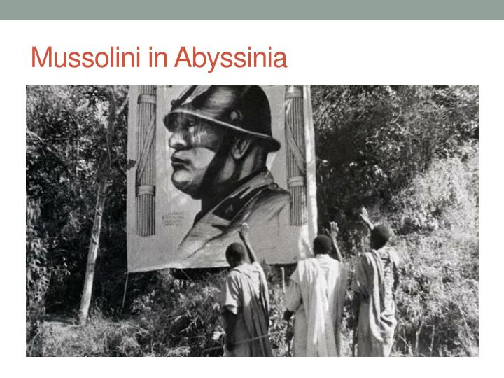 Mussolini in Abyssinia