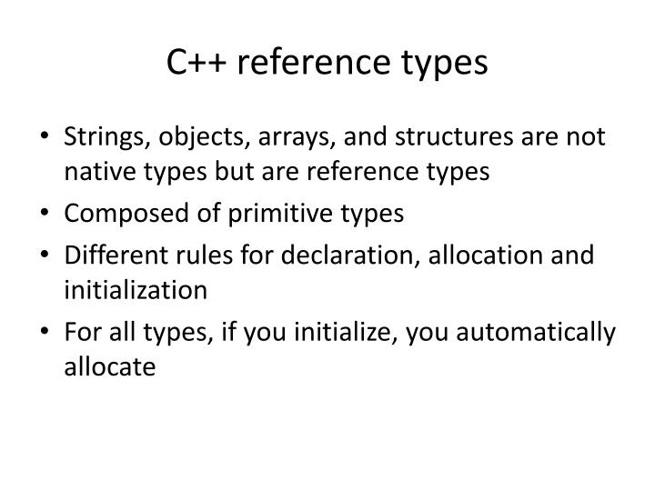C++ reference types